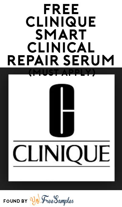 FREE Clinique Smart Clinical Repair Serum At BzzAgent (Must Apply)