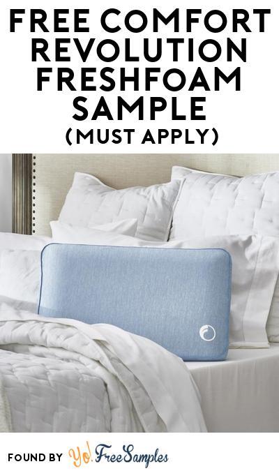 FREE Comfort Revolution Freshfoam Sample At BzzAgent (Must Apply)