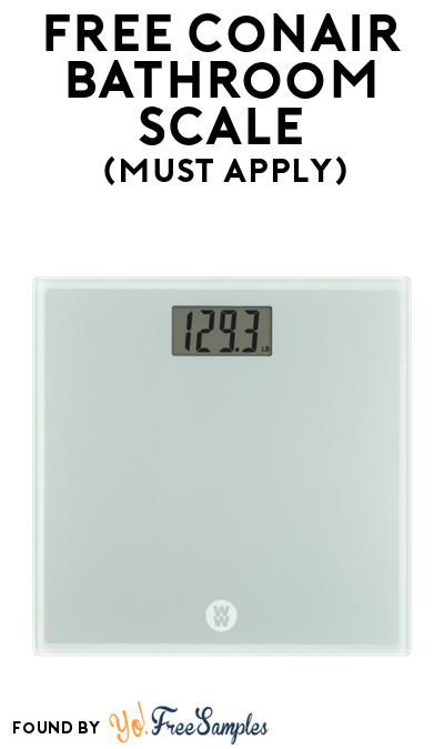 FREE Conair Bathroom Scale At BzzAgent (Must Apply)