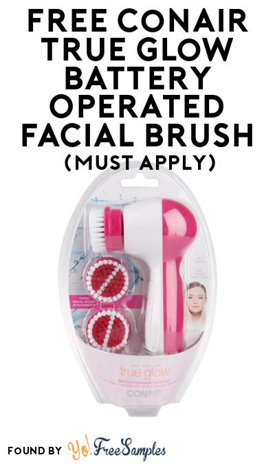 FREE Conair True Glow Battery Operated Facial Brush At BzzAgent (Must Apply)