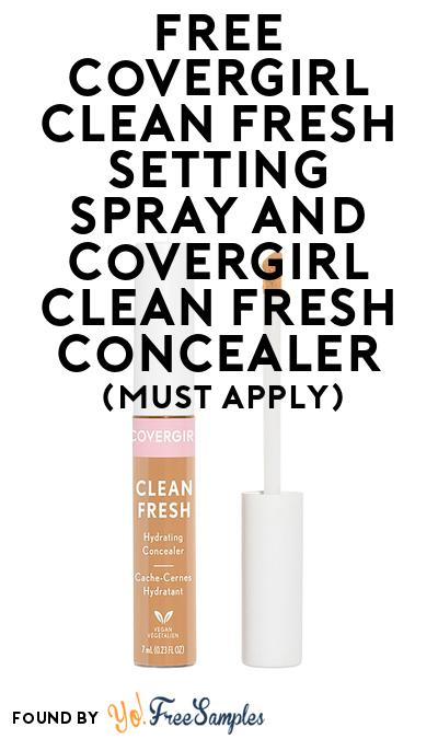 FREE Covergirl Clean Fresh Setting Spray & Concealer At BzzAgent (Must Apply)