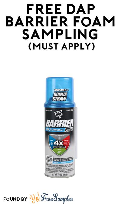 FREE Dap Barrier Foam Sampling At BzzAgent (Must Apply)