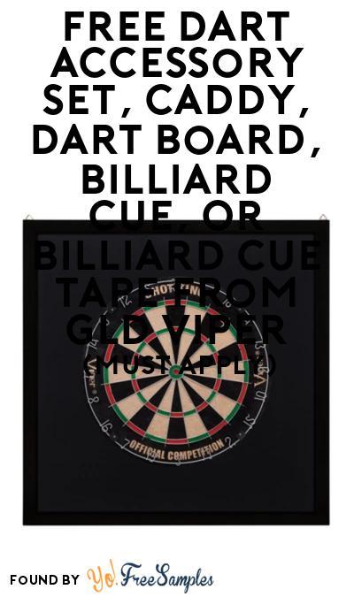 FREE Gld Viper Dart & Billiards Stuff At BzzAgent (Must Apply)