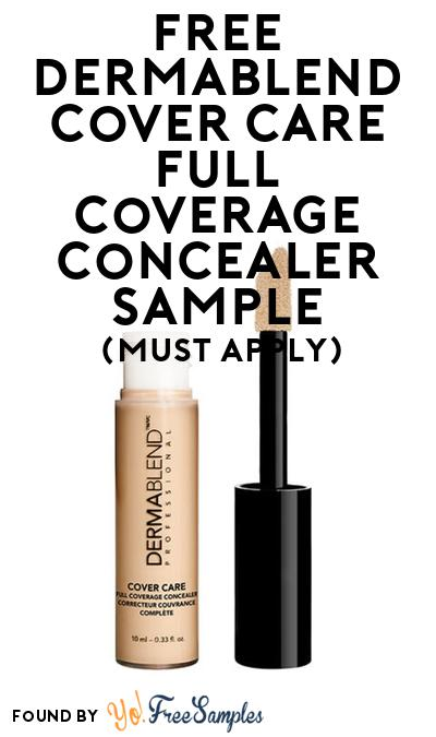 FREE Dermablend Cover Care Full Coverage Concealer Sample At BzzAgent (Must Apply)