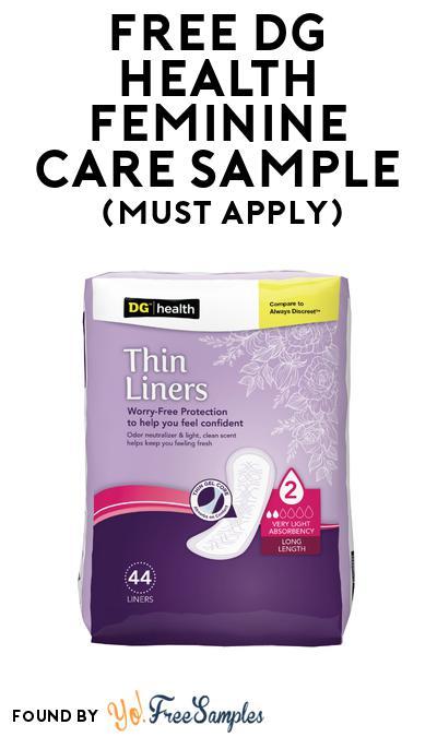 FREE DG Health Feminine Care Sample At BzzAgent (Must Apply)