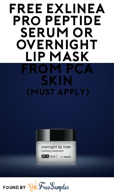 FREE Exlinea Pro Peptide Serum Or Overnight Lip Mask From Pca Skin At BzzAgent (Must Apply)