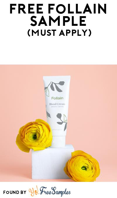 FREE Follain Hand Cream At BzzAgent (Must Apply)