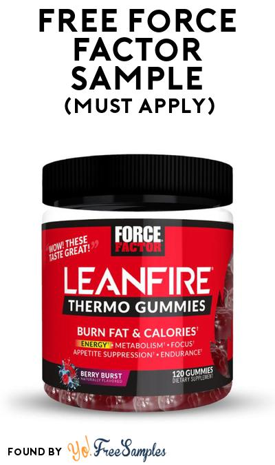 FREE Force Factor Sample At BzzAgent (Must Apply)