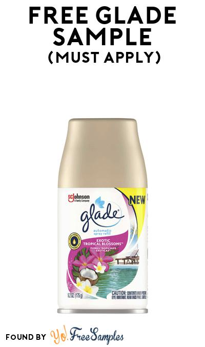 FREE Glade Sample At BzzAgent (Must Apply)