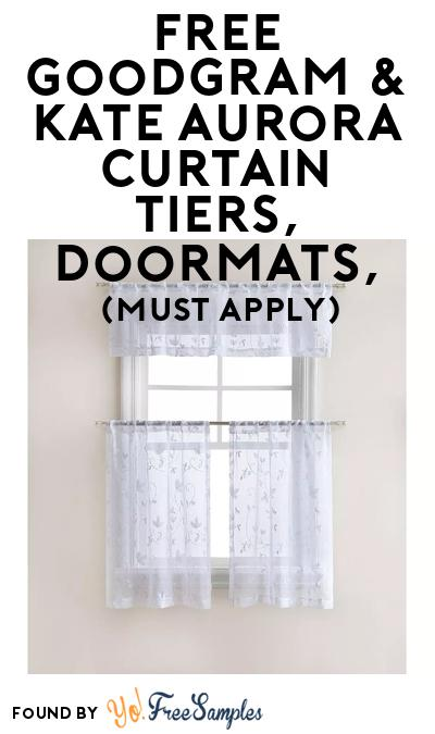 FREE Goodgram & Kate Aurora Curtain Tiers, Doormats, At BzzAgent (Must Apply)