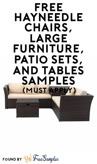 FREE Hayneedle Chairs, Large Furniture, Patio Sets & Tables At BzzAgent (Must Apply)