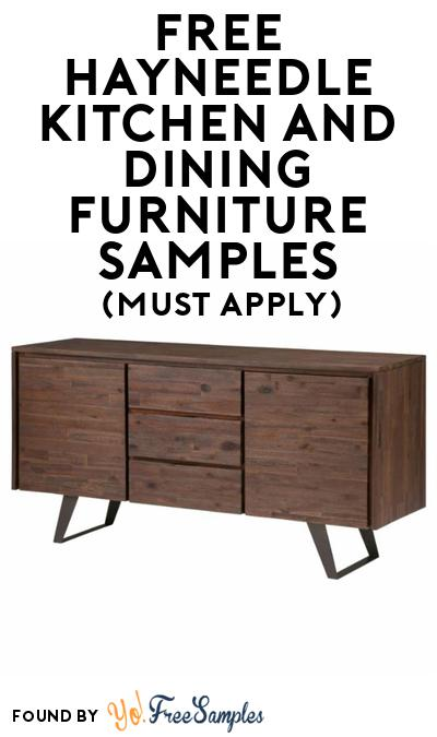 FREE Hayneedle Kitchen And Dining Furniture At BzzAgent (Must Apply)