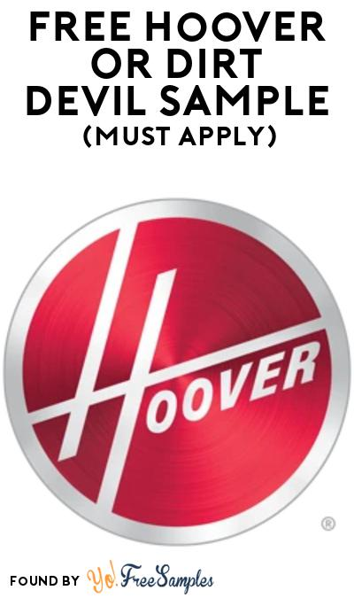 FREE Hoover Or Dirt Devil Product At BzzAgent (Must Apply)