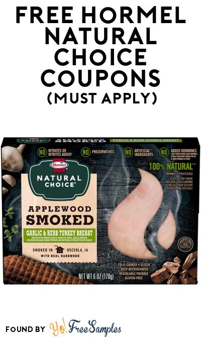 4 FREE Hormel Natural Choice Products At BzzAgent (Must Apply)