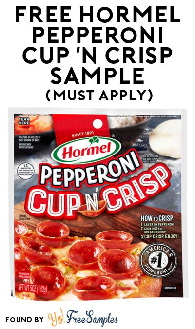FREE Hormel Pepperoni Cup 'N Crisp Sample At BzzAgent (Must Apply)