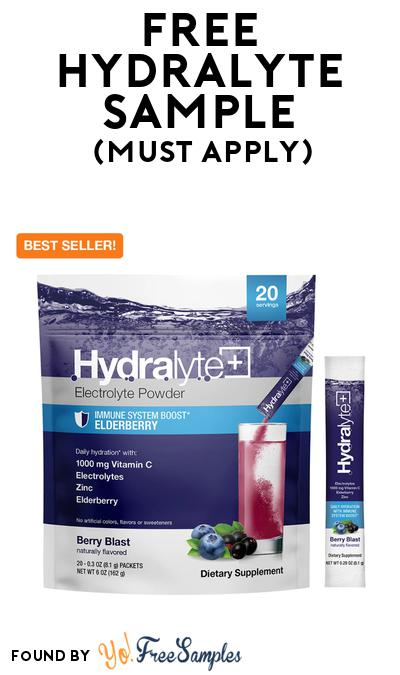 FREE Hydralyte Sample At BzzAgent (Must Apply)