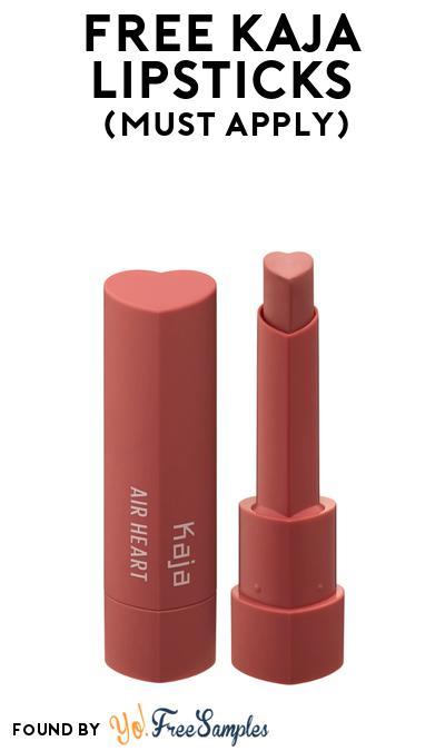 FREE Kaja Lipsticks At BzzAgent (Must Apply)