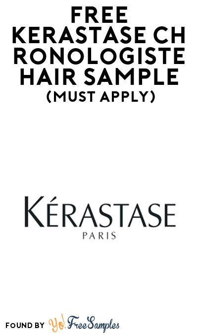 FREE Kerastase Chronologiste Hair Sample At BzzAgent (Must Apply)
