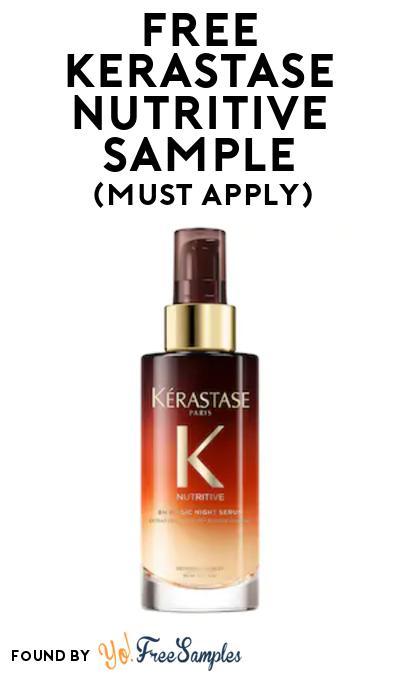 FREE Kerastase Nutritive Sample At BzzAgent (Must Apply)