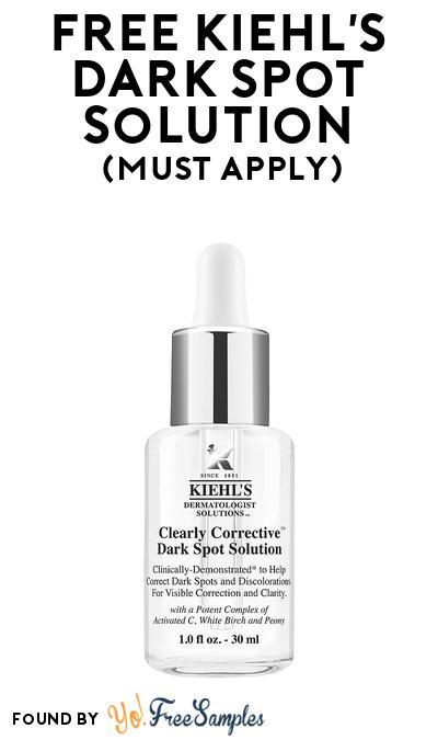 FREE Kiehl's Dark Spot Solution At BzzAgent (Must Apply)