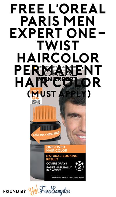 FREE L'Oreal Paris Men Expert One-Twist Haircolor Permanent Hair Color At BzzAgent (Must Apply)