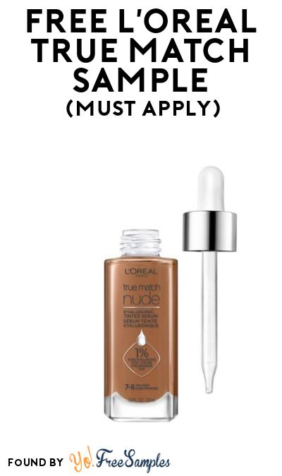 FREE L'Oreal True Match Sample At BzzAgent (Must Apply)