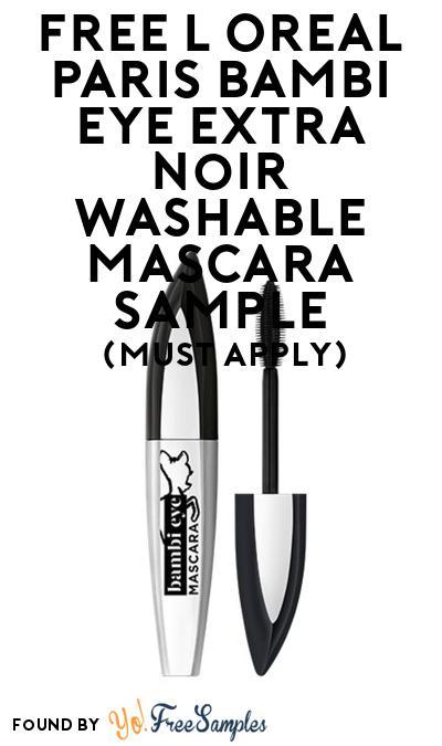 FREE L'Oreal Paris Bambi Eye Extra Noir Washable Mascara Sample At BzzAgent (Must Apply)