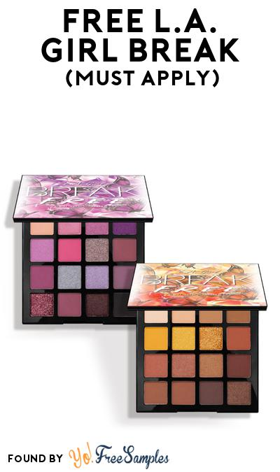 FREE L.A. Girl Break Samples At BzzAgent (Must Apply)