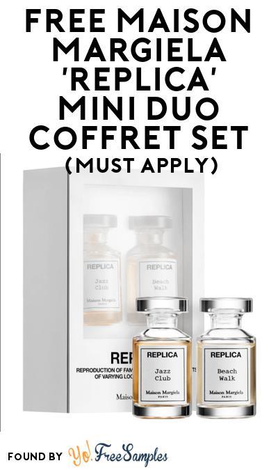 FREE Maison Margiela 'Replica' Mini Duo Coffret Set At BzzAgent (Must Apply)
