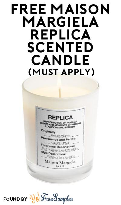 FREE Maison Margiela Replica Scented Candle At BzzAgent (Must Apply)