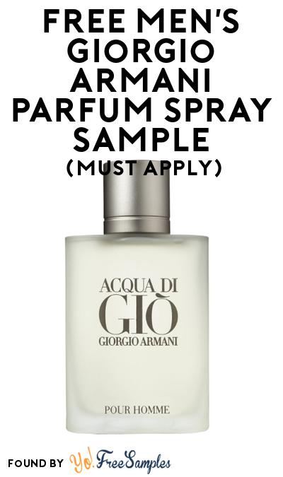 FREE Men's Giorgio Armani Parfum Spray Sample At BzzAgent (Must Apply)