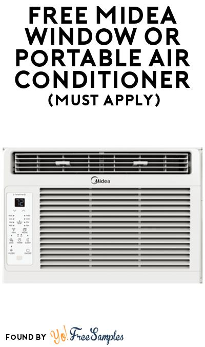 FREE Midea Window Or Portable Air Conditioner At BzzAgent (Must Apply)