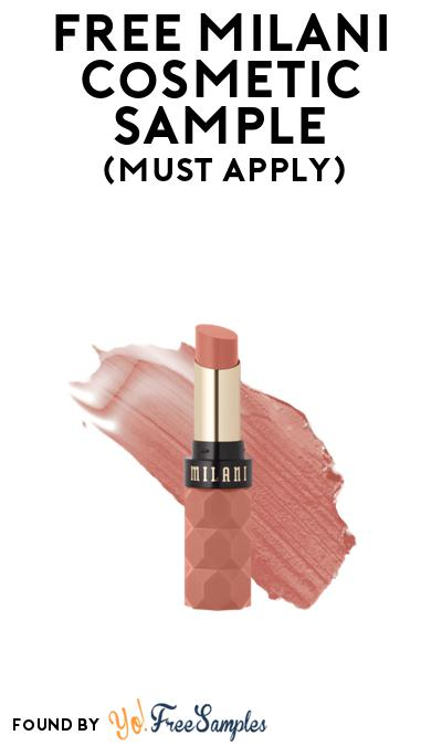 FREE Milani Cosmetic Lipstick Sample At BzzAgent (Must Apply)