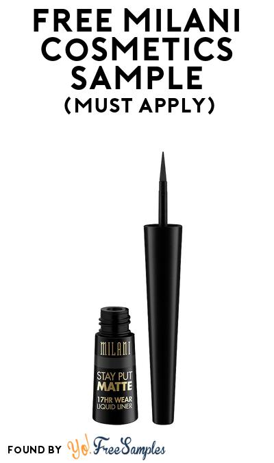 FREE Milani Cosmetics Stay Put Matte Wear Liquid Eyeliner At BzzAgent (Must Apply)