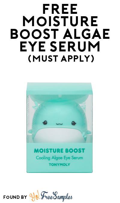 FREE Moisture Boost Algae Eye Serum At BzzAgent (Must Apply)