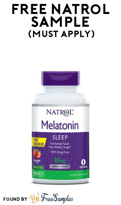 FREE Natrol Melatonin Sample At BzzAgent (Must Apply)