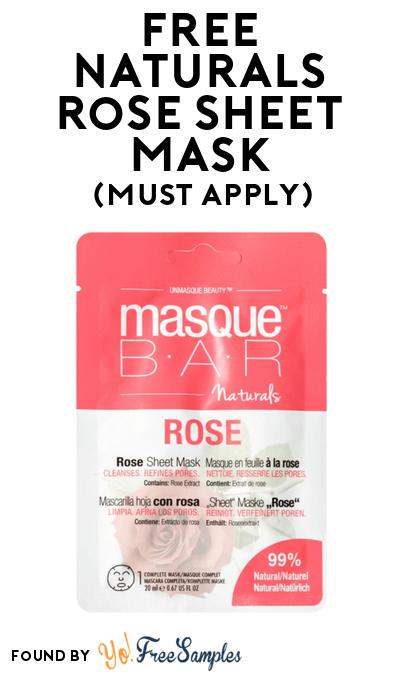 FREE Naturals Rose Sheet Mask At BzzAgent (Must Apply)