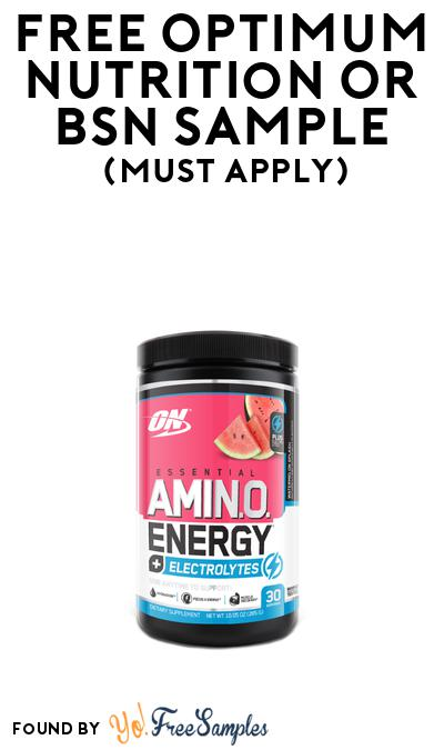 FREE Optimum Nutrition or BSN Sample At BzzAgent (Must Apply)