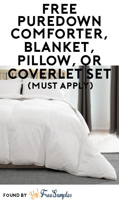 FREE Puredown Comforter, Blanket, Pillow, Or Coverlet Set At BzzAgent (Must Apply)