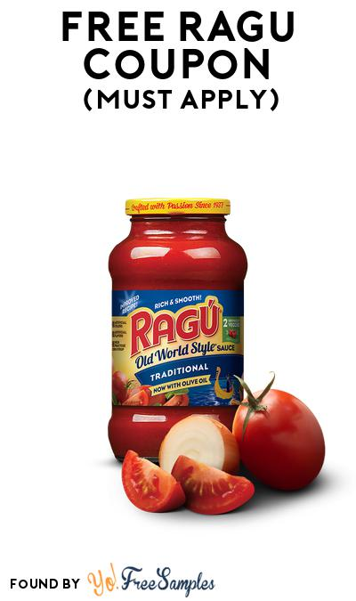 FREE Ragu Full-Size Coupon At BzzAgent (Must Apply)