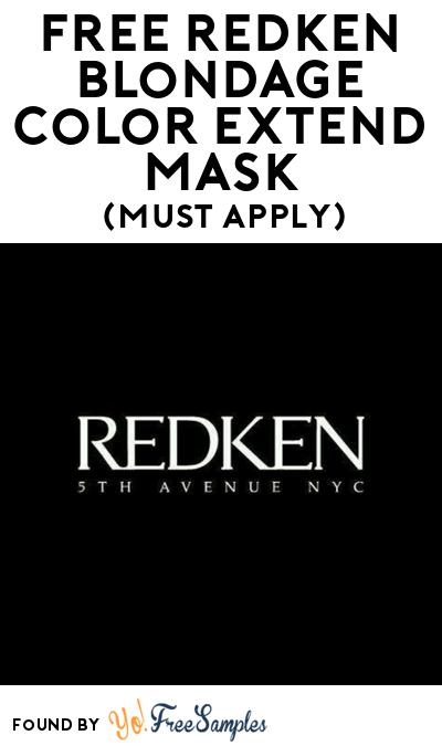 FREE Redken Blondage Color Extend Mask At BzzAgent (Must Apply)