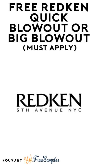 FREE Redken Quick Blowout Or Big Blowout At BzzAgent (Must Apply)