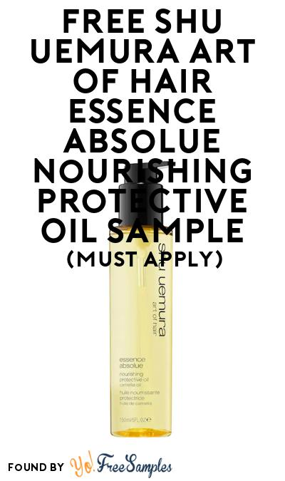 FREE Shu Uemura Art Of Hair Essence Absolue Nourishing Protective Oil Sample At BzzAgent (Must Apply)