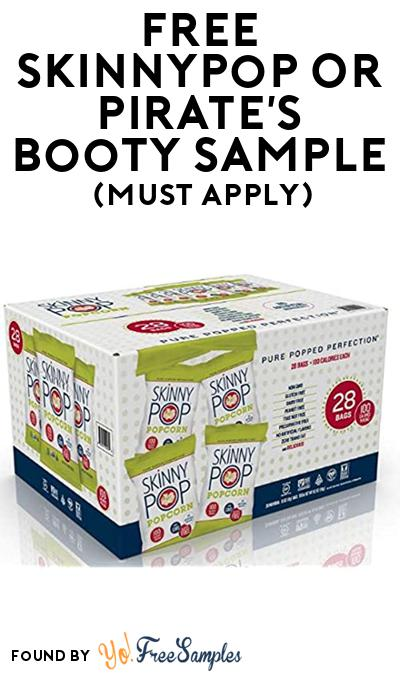 FREE SkinnyPop or Pirate's Booty Snack At BzzAgent (Must Apply)