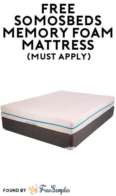 FREE Somosbeds Memory Foam Mattress At BzzAgent (Must Apply)