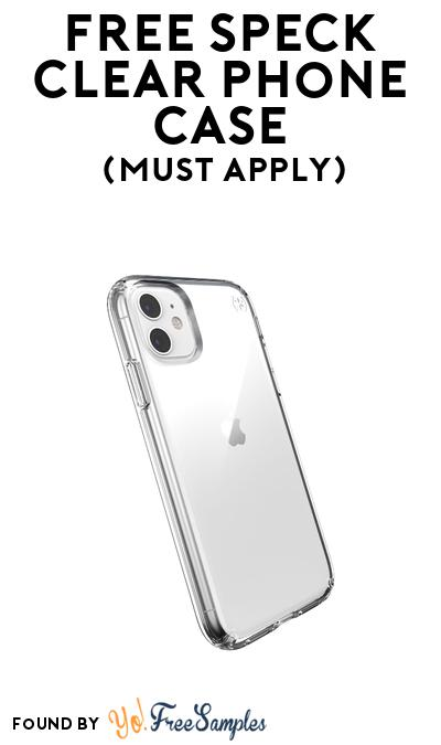 FREE Speck Clear Phone Case At BzzAgent (Must Apply)