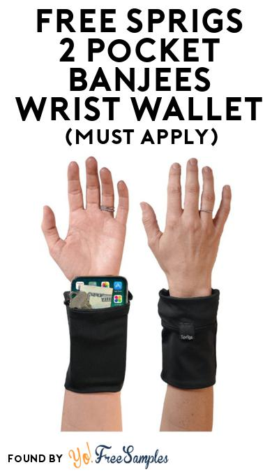 FREE Sprigs 2 Pocket Banjees Wrist Wallet At BzzAgent (Must Apply)