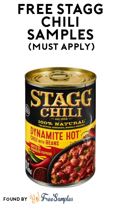 FREE Stagg Chili Samples At BzzAgent (Must Apply)