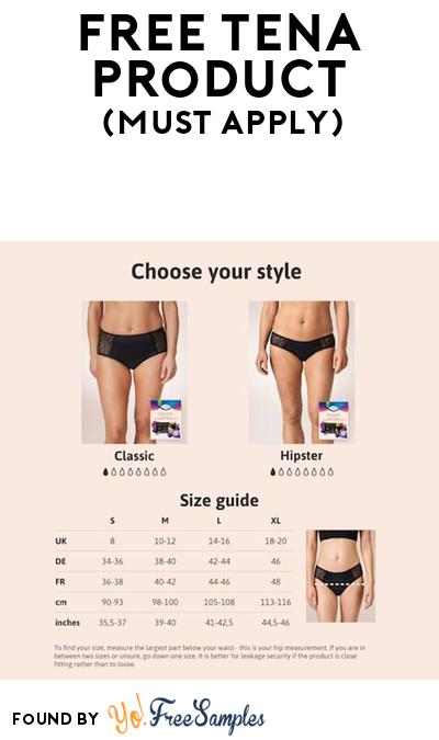 FREE Tena Hipster Underwear At BzzAgent (Must Apply)