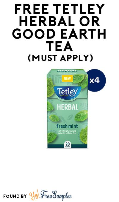 FREE Tetley Herbal or Good Earth Tea At BzzAgent (Must Apply)
